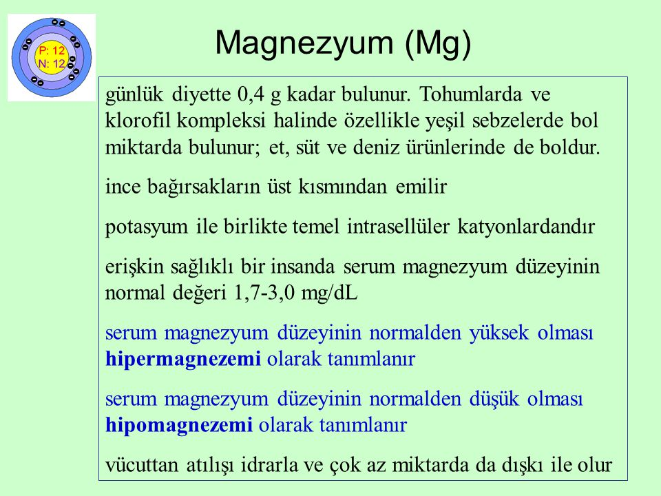 Magnezyum (Mg)