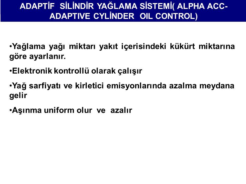 ADAPTİF SİLİNDİR YAĞLAMA SİSTEMİ( ALPHA ACC-ADAPTIVE CYLİNDER OIL CONTROL)