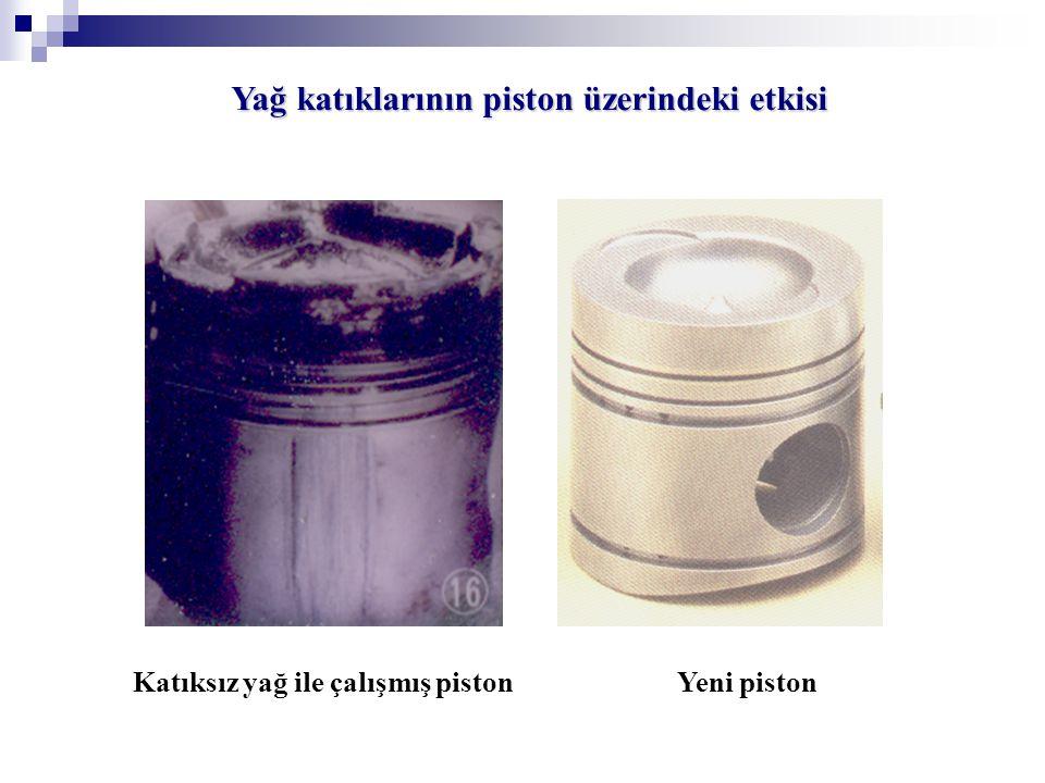 Yağ katıklarının piston üzerindeki etkisi