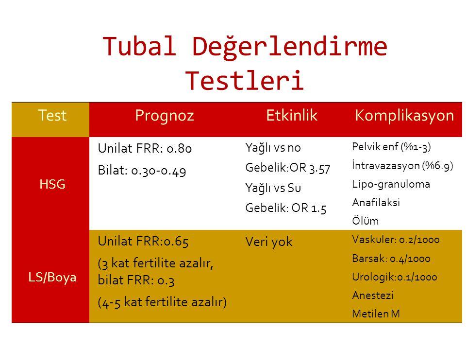 Tubal Değerlendirme Testleri