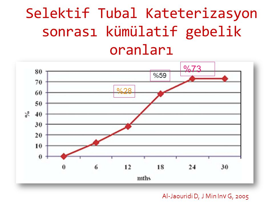 Selektif Tubal Kateterizasyon sonrası kümülatif gebelik oranları