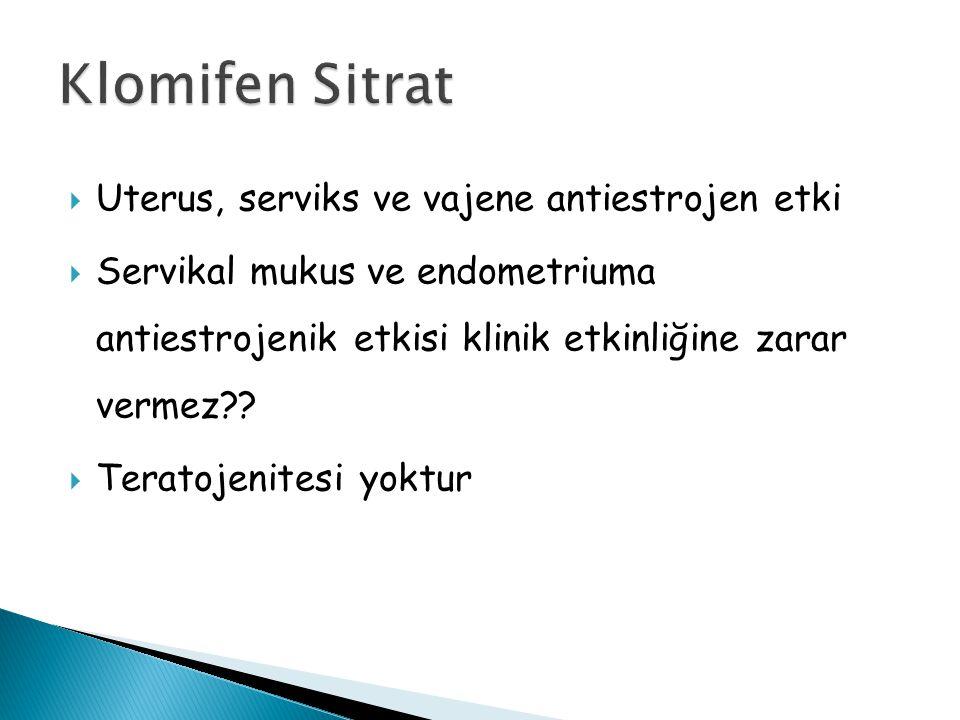 Klomifen Sitrat Uterus, serviks ve vajene antiestrojen etki