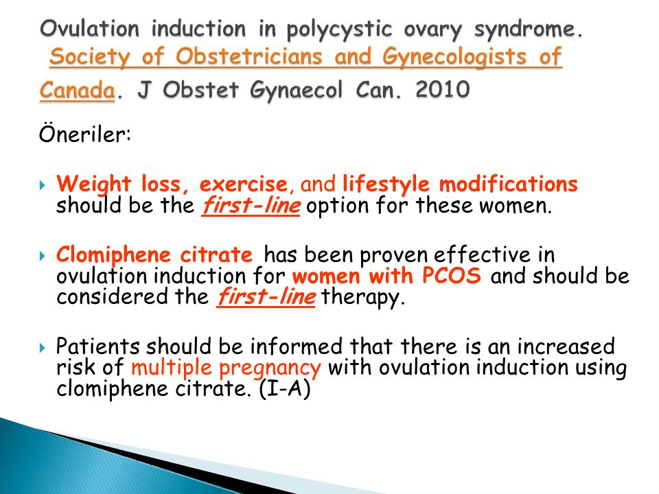 Ovulation induction in polycystic ovary syndrome