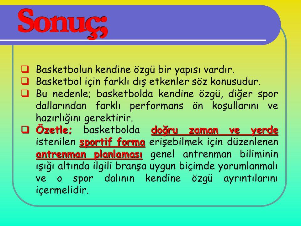 Basketbolun kendine özgü bir yapısı vardır.