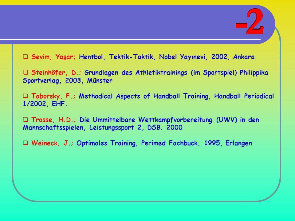Sevim, Yaşar; Hentbol, Tektik-Taktik, Nobel Yayınevi, 2002, Ankara