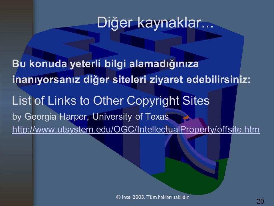 © Intel 2003. Tüm hakları saklıdır.