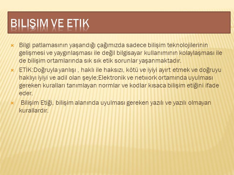 Bilişim ve etik