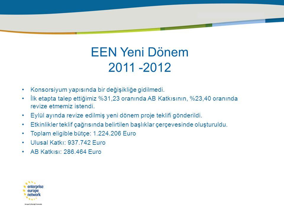 EEN Yeni Dönem 2011 -2012 Konsorsiyum yapısında bir değişikliğe gidilmedi.