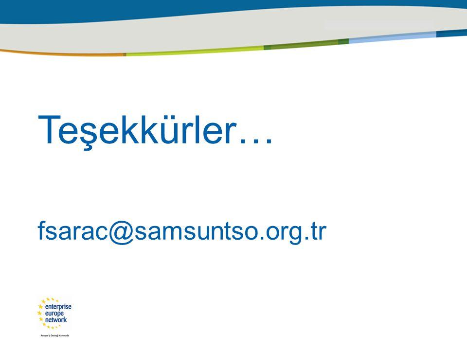 Teşekkürler… fsarac@samsuntso.org.tr