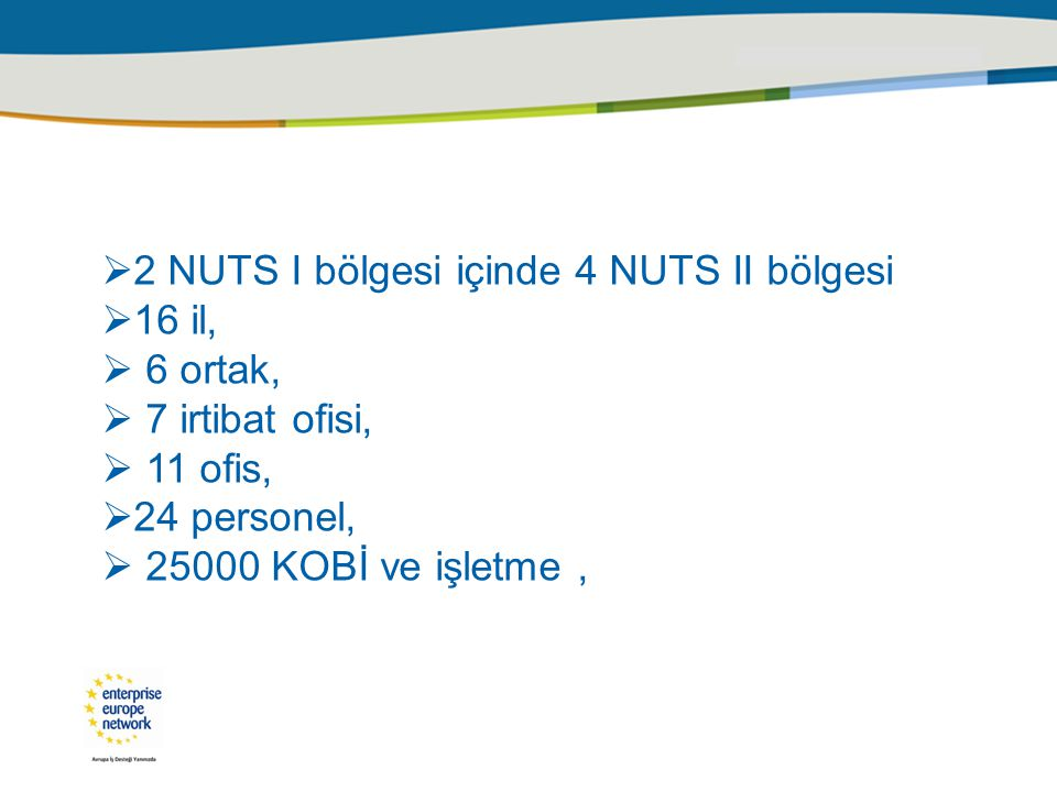 2 NUTS I bölgesi içinde 4 NUTS II bölgesi