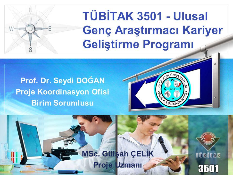 TÜBİTAK 3501 - Ulusal Genç Araştırmacı Kariyer Geliştirme Programı