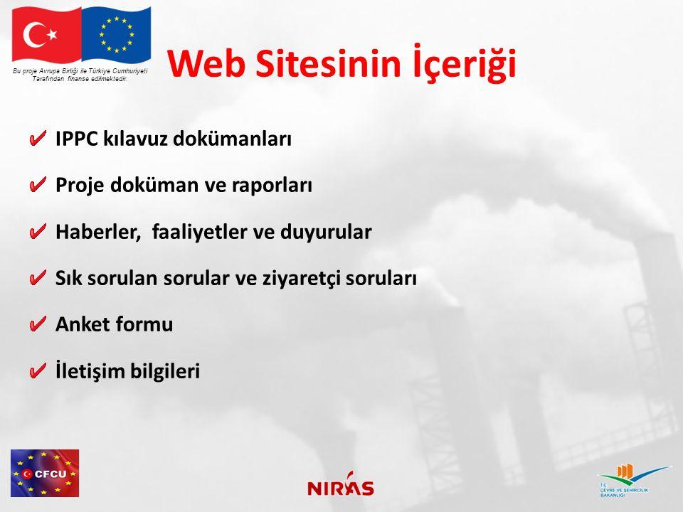 Web Sitesinin İçeriği IPPC kılavuz dokümanları