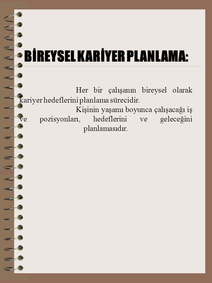 BİREYSEL KARİYER PLANLAMA: