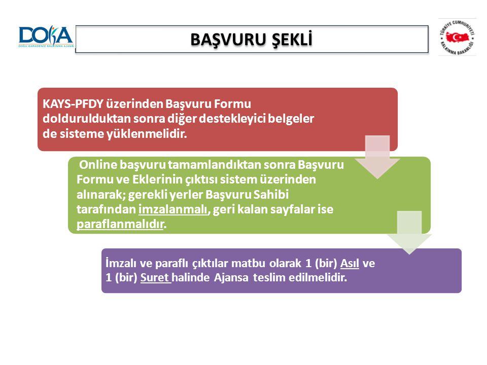 BAŞVURU ŞEKLİ KAYS-PFDY üzerinden Başvuru Formu doldurulduktan sonra diğer destekleyici belgeler de sisteme yüklenmelidir.