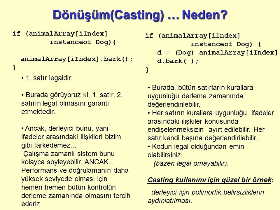 Dönüşüm(Casting) … Neden