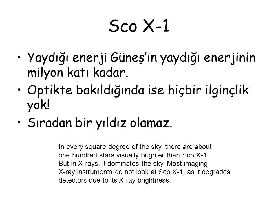 Sco X-1 Yaydığı enerji Güneş'in yaydığı enerjinin milyon katı kadar.