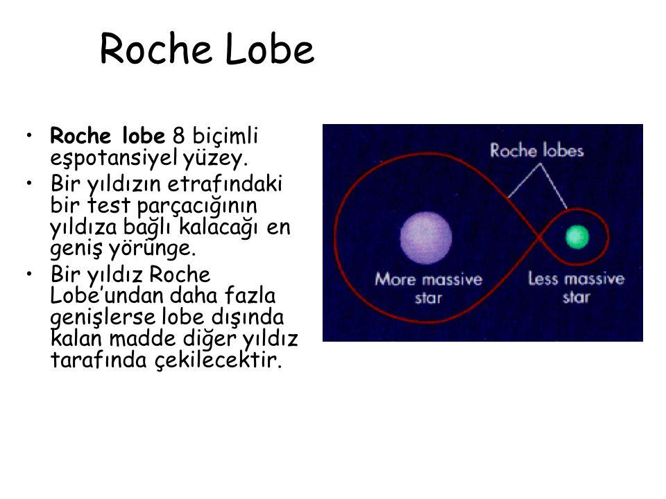 Roche Lobe Roche lobe 8 biçimli eşpotansiyel yüzey.