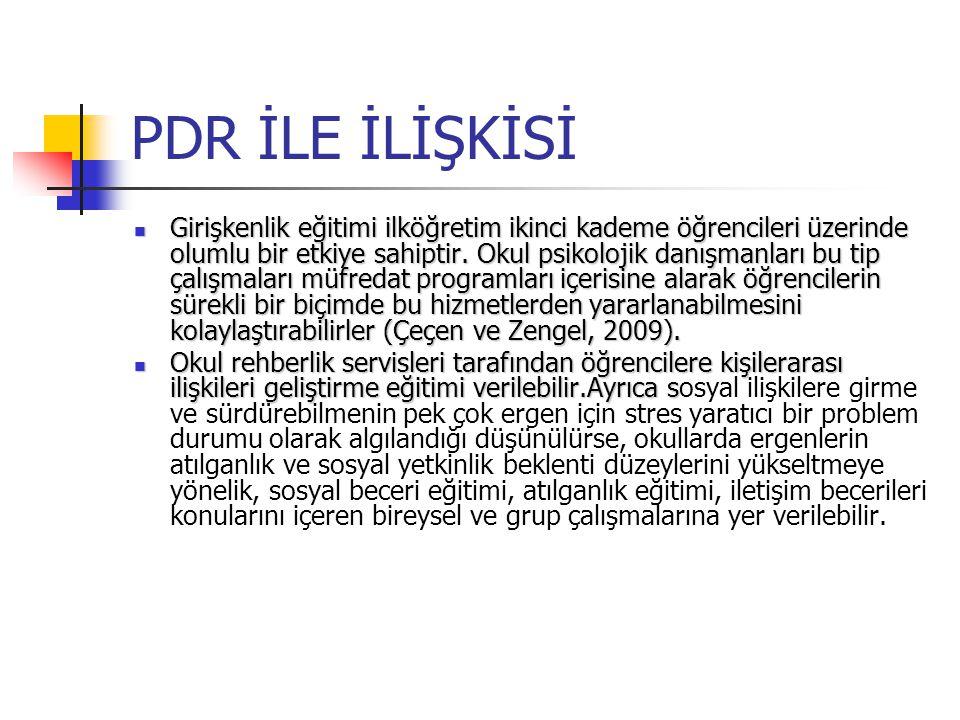 PDR İLE İLİŞKİSİ