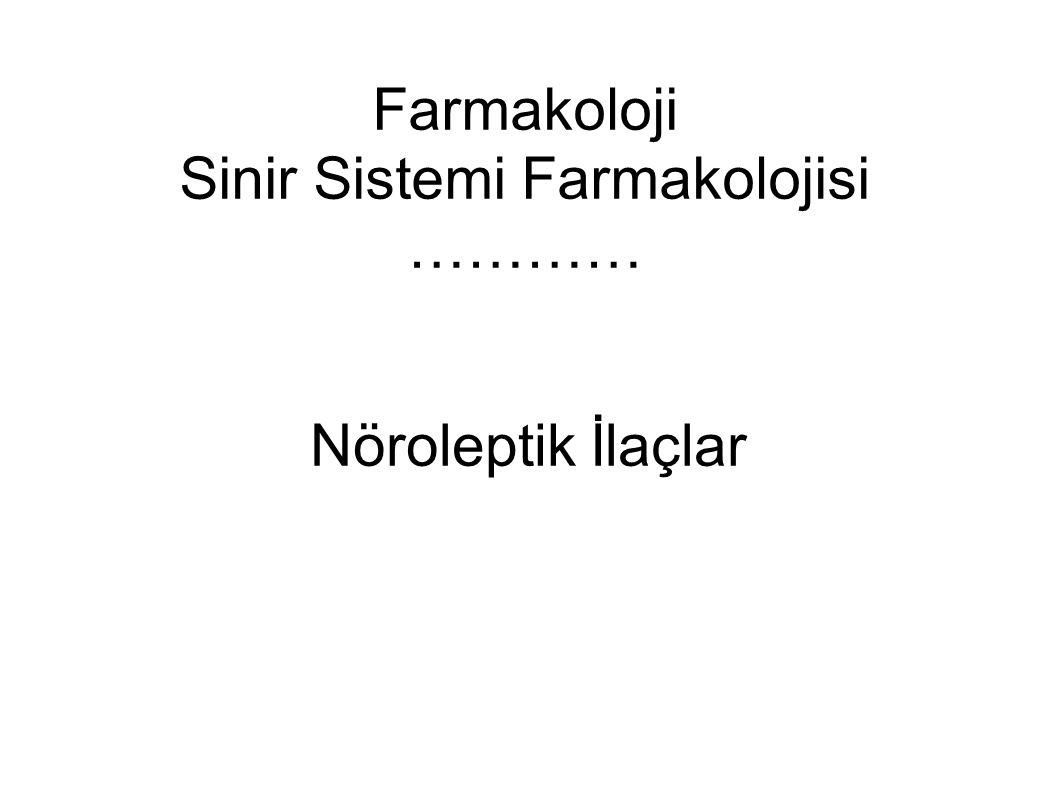 Farmakoloji Sinir Sistemi Farmakolojisi …………