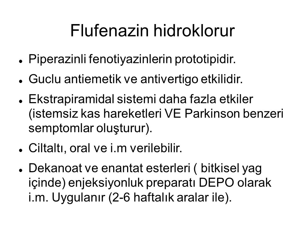 Flufenazin hidroklorur