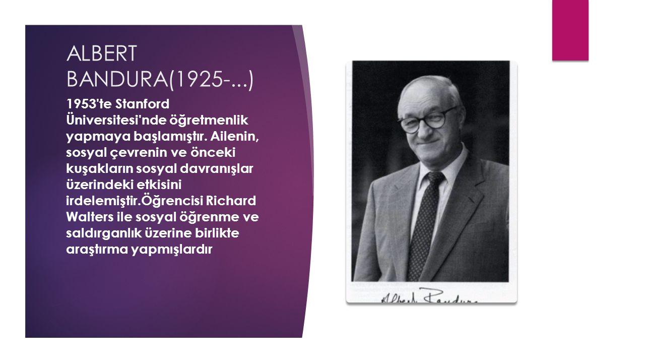 ALBERT BANDURA(1925-...)