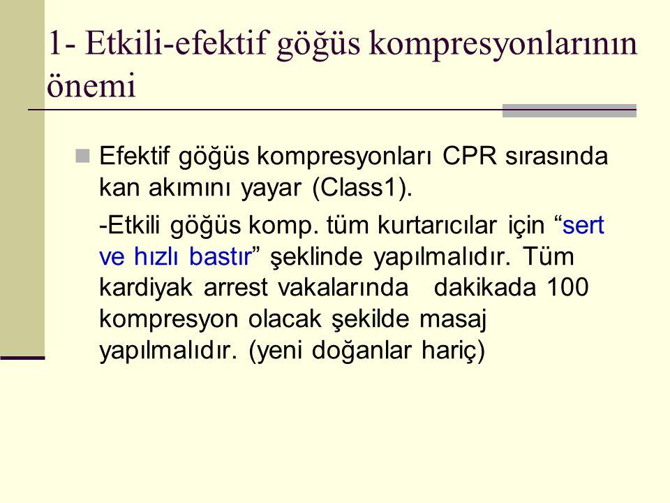 1- Etkili-efektif göğüs kompresyonlarının önemi