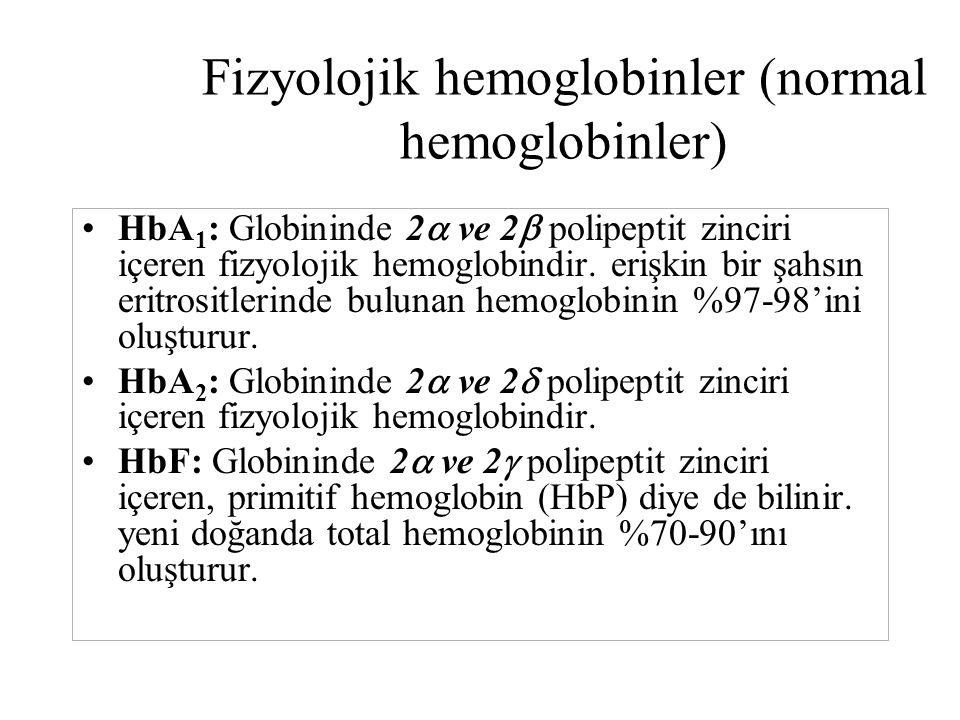 Fizyolojik hemoglobinler (normal hemoglobinler)