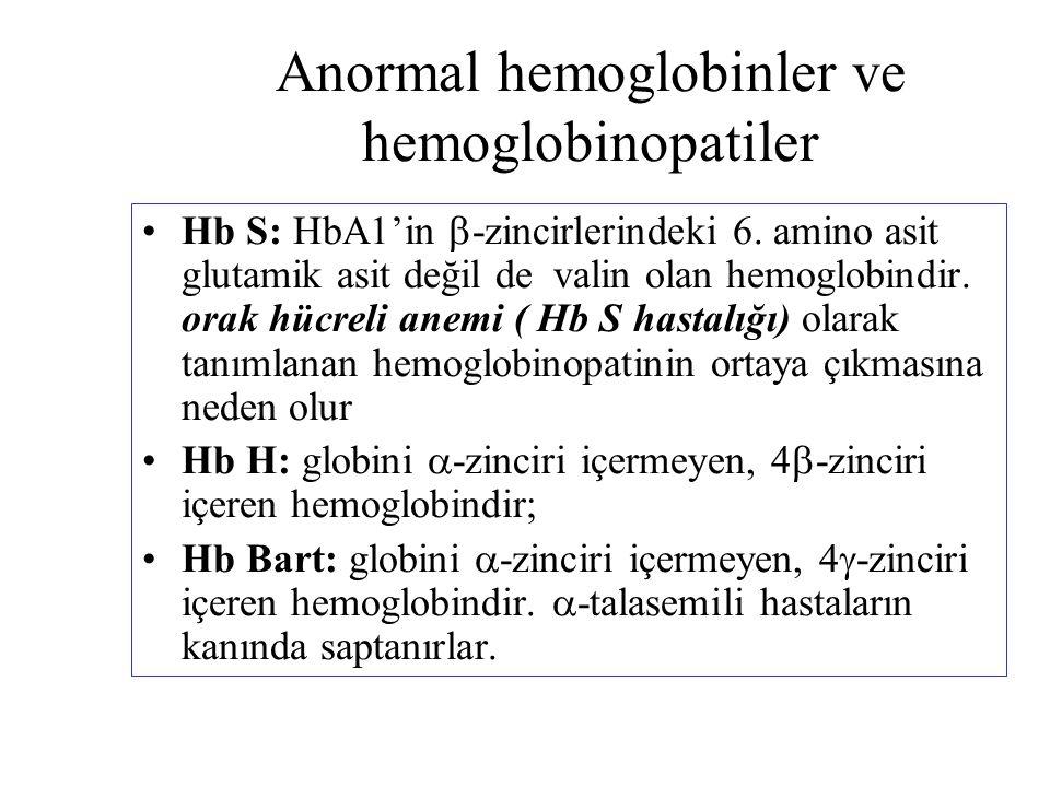 Anormal hemoglobinler ve hemoglobinopatiler