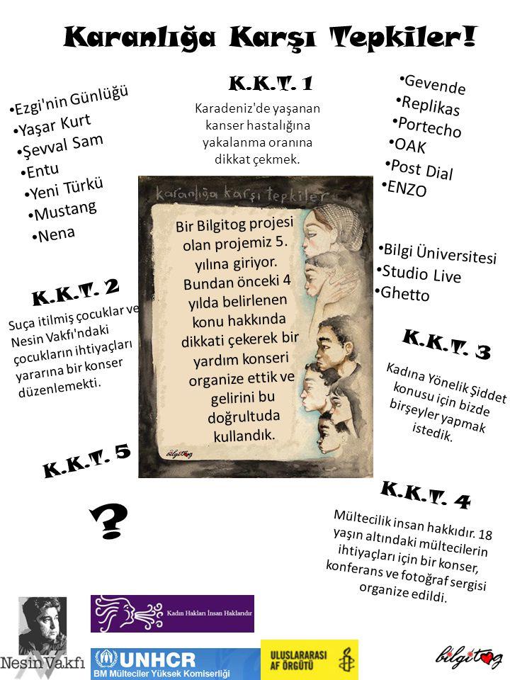 Karanlığa Karşı Tepkiler! K.K.T. 1 K.K.T. 2 K.K.T. 3 K.K.T. 5