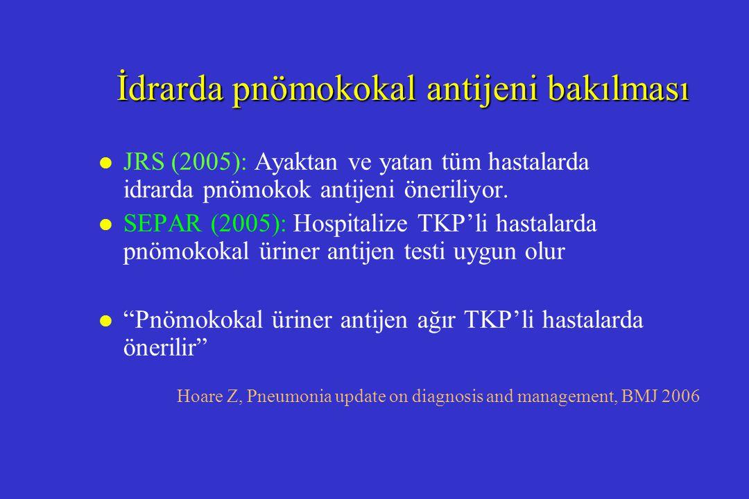 İdrarda pnömokokal antijeni bakılması