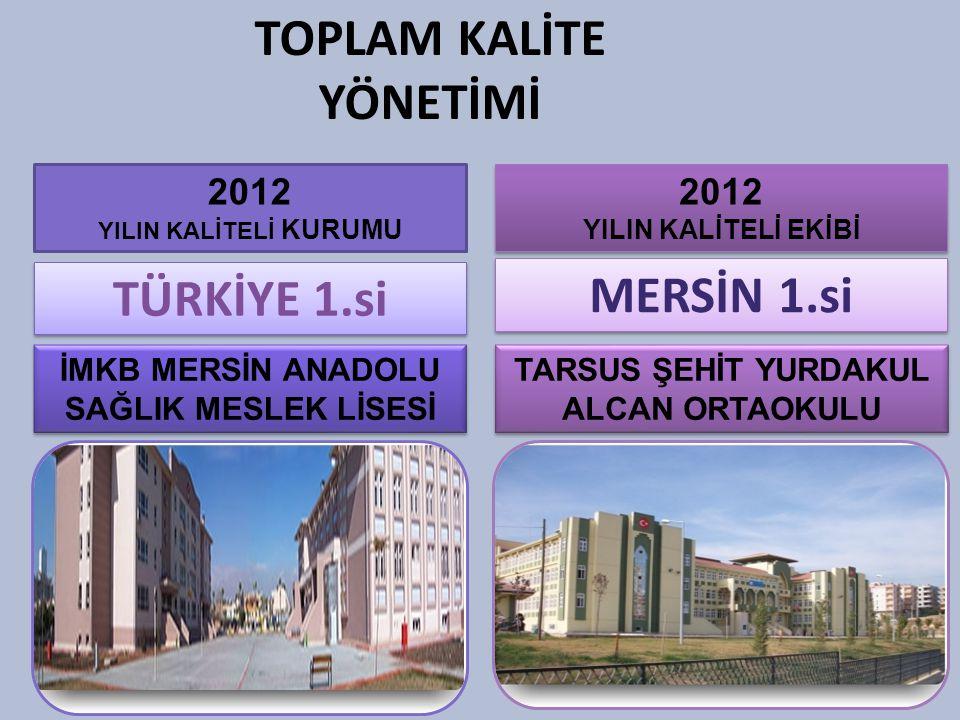 TOPLAM KALİTE YÖNETİMİ TÜRKİYE 1.si MERSİN 1.si