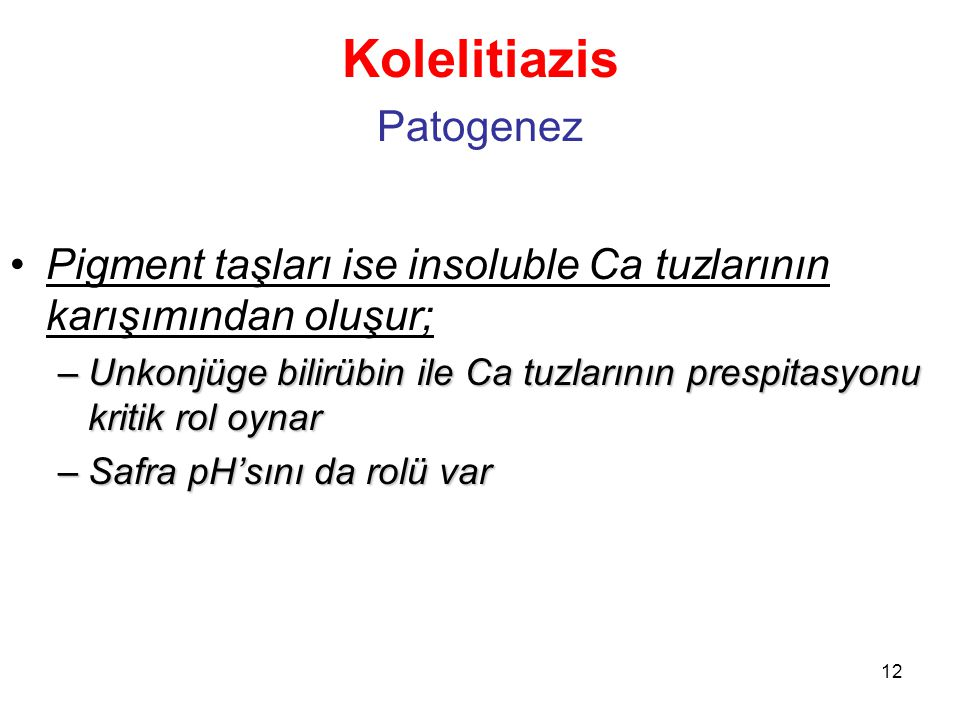 Kolelitiazis Patogenez