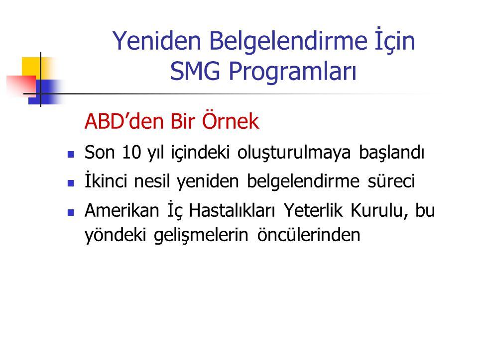 Yeniden Belgelendirme İçin SMG Programları