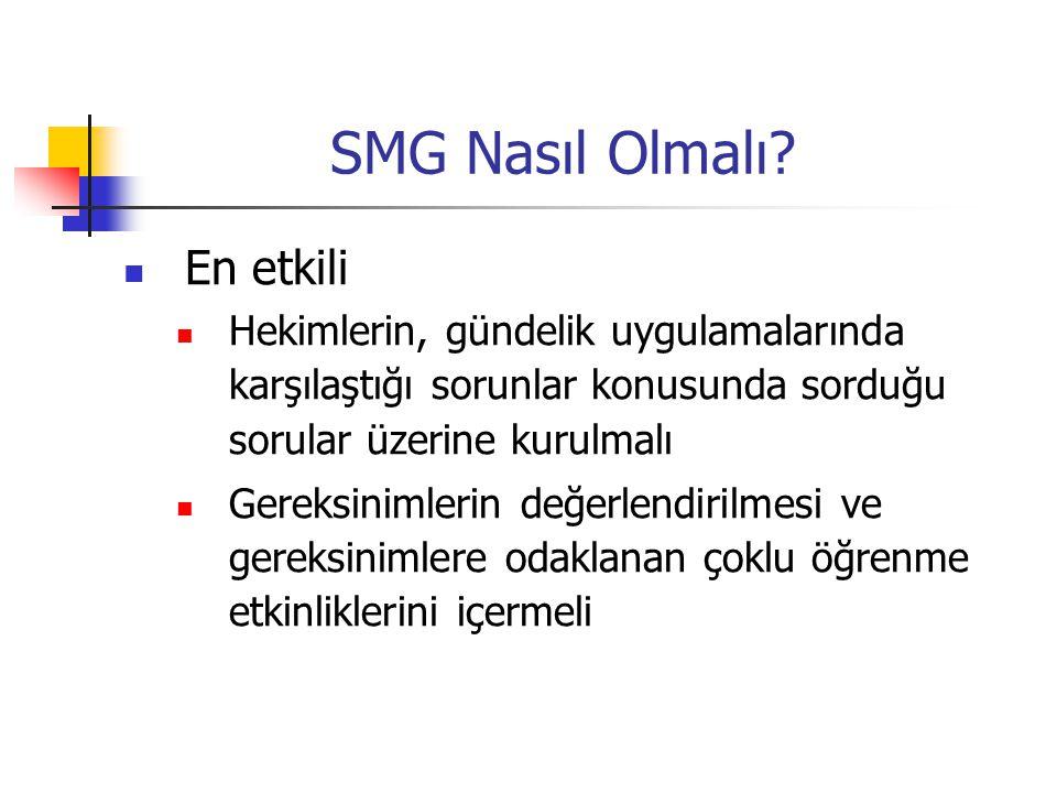 SMG Nasıl Olmalı En etkili
