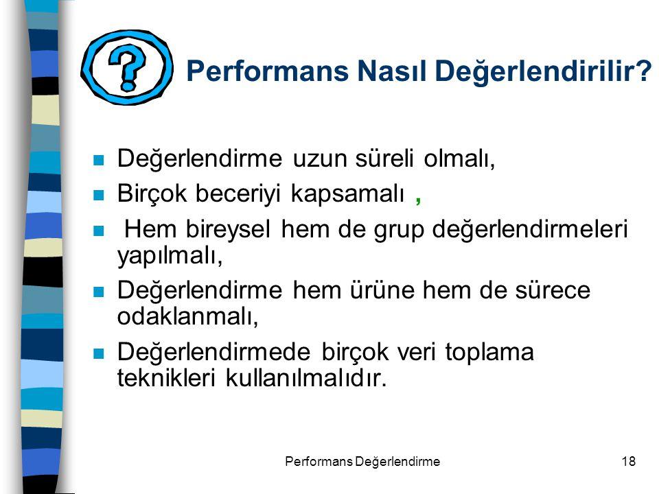 Performans Nasıl Değerlendirilir