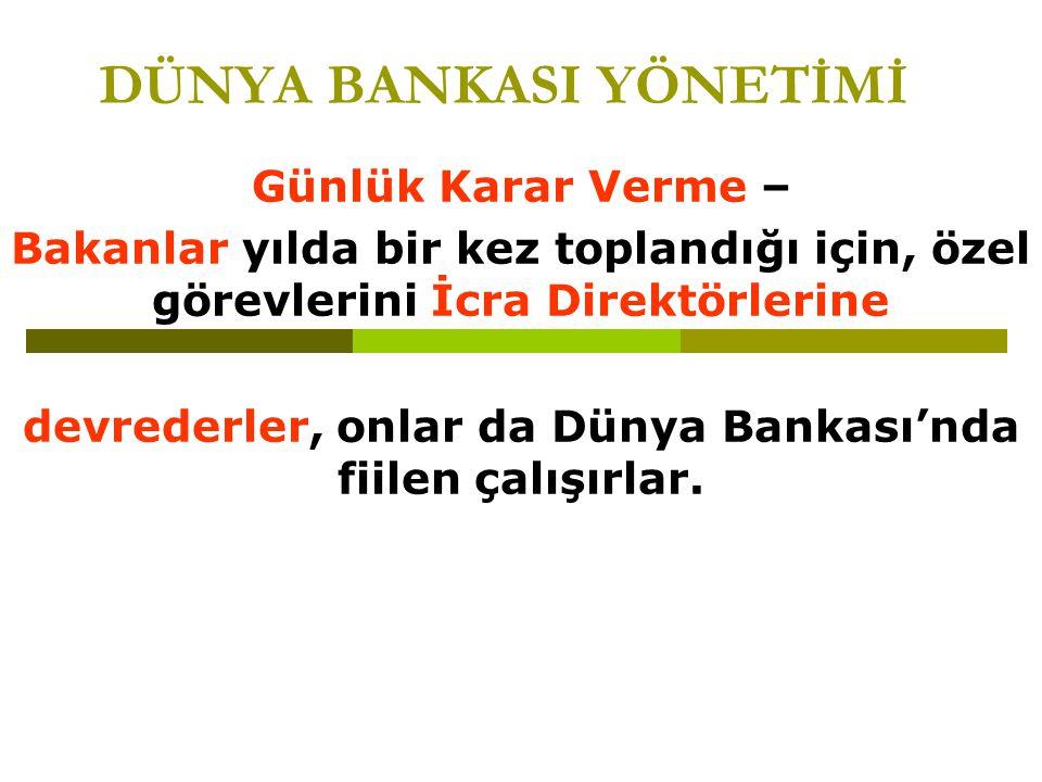 DÜNYA BANKASI YÖNETİMİ