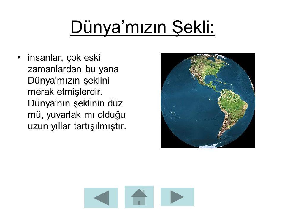 Dünya'mızın Şekli: