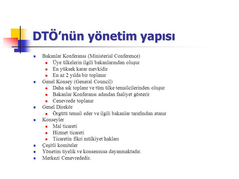 DTÖ'nün yönetim yapısı