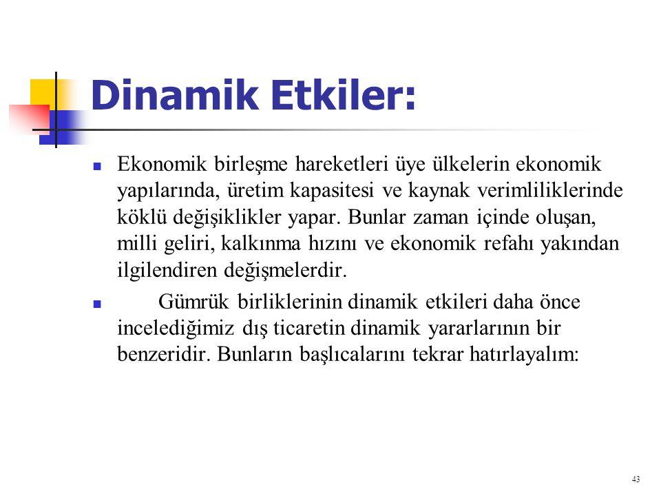 Dinamik Etkiler: