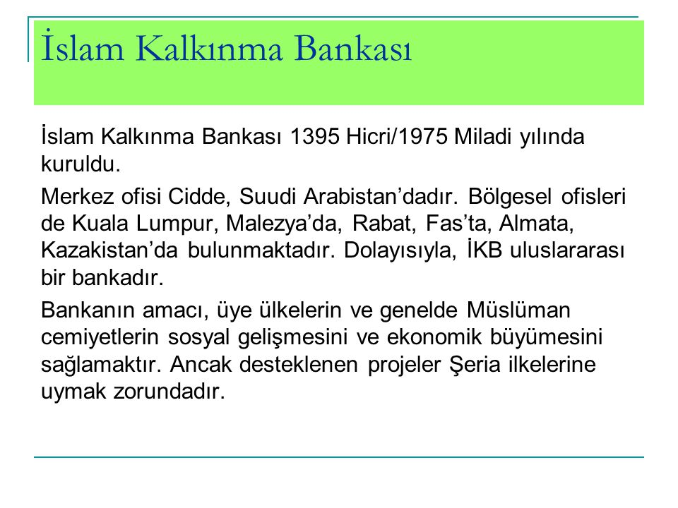 İslam Kalkınma Bankası