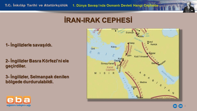 İRAN-IRAK CEPHESİ T.C. İnkılâp Tarihi ve Atatürkçülük