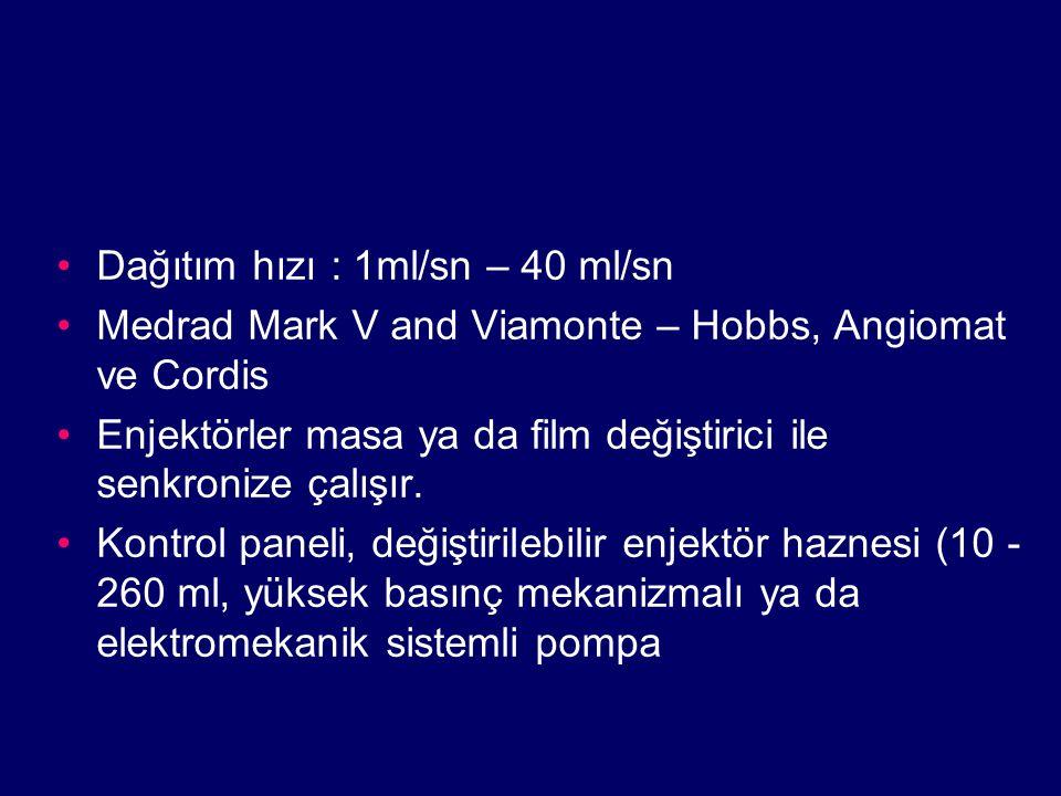 Dağıtım hızı : 1ml/sn – 40 ml/sn