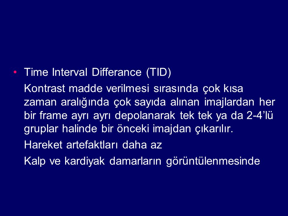 Time Interval Differance (TID)