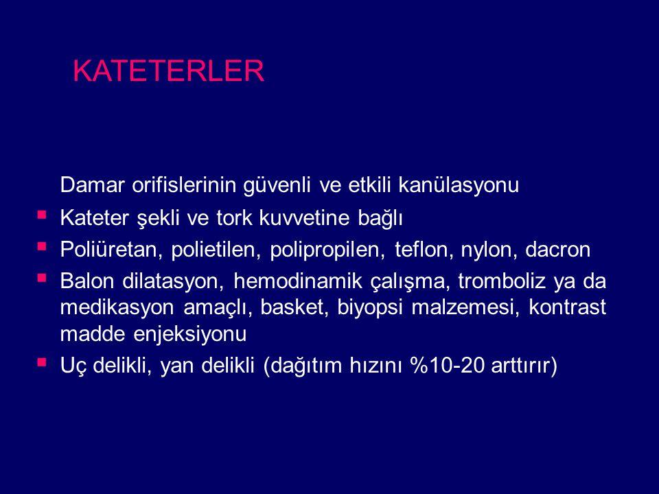 KATETERLER Damar orifislerinin güvenli ve etkili kanülasyonu