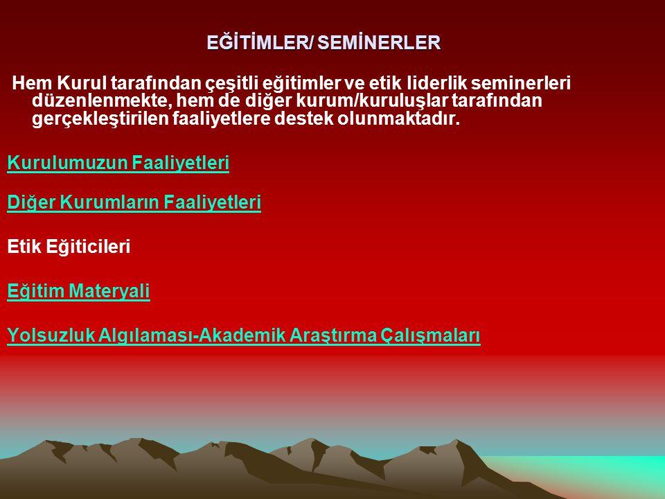 EĞİTİMLER/ SEMİNERLER