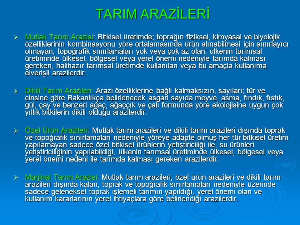 TARIM ARAZİLERİ