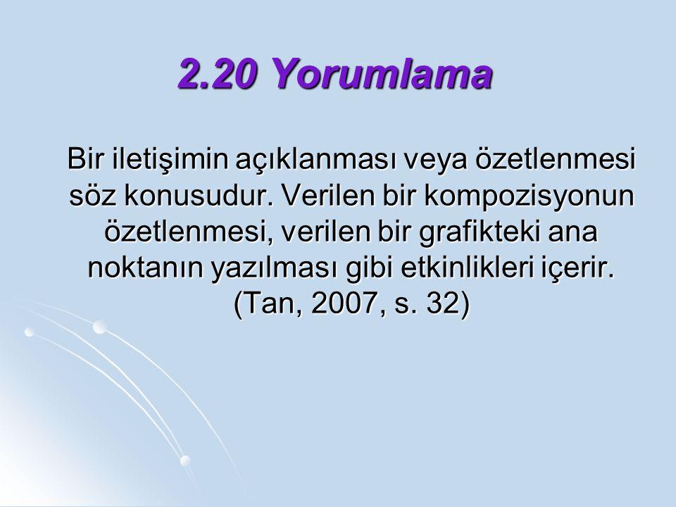 2.20 Yorumlama