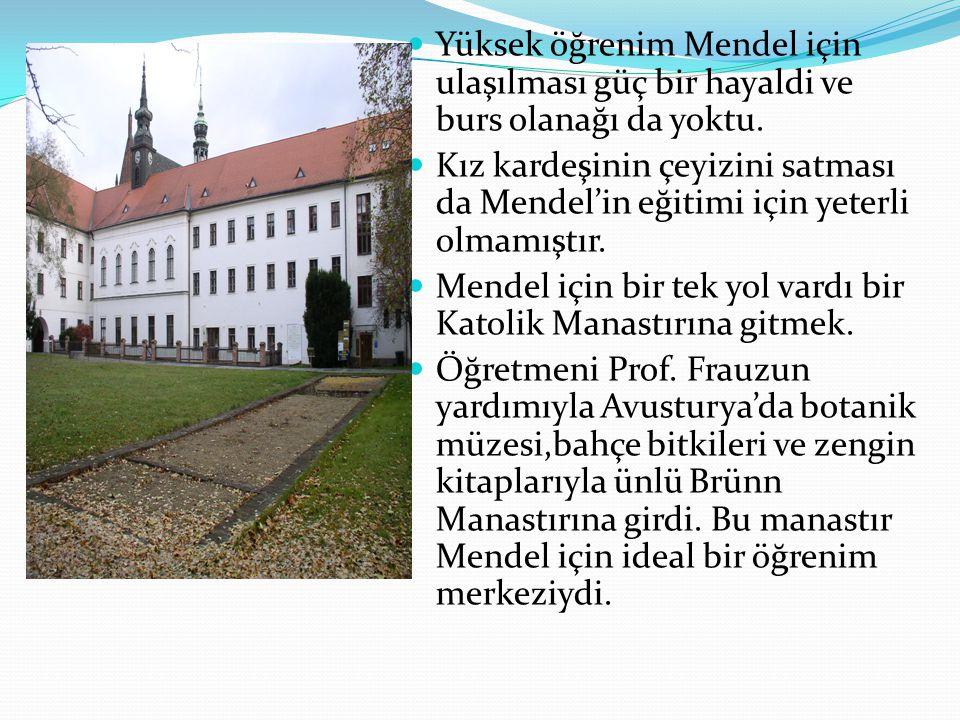 Yüksek öğrenim Mendel için ulaşılması güç bir hayaldi ve burs olanağı da yoktu.