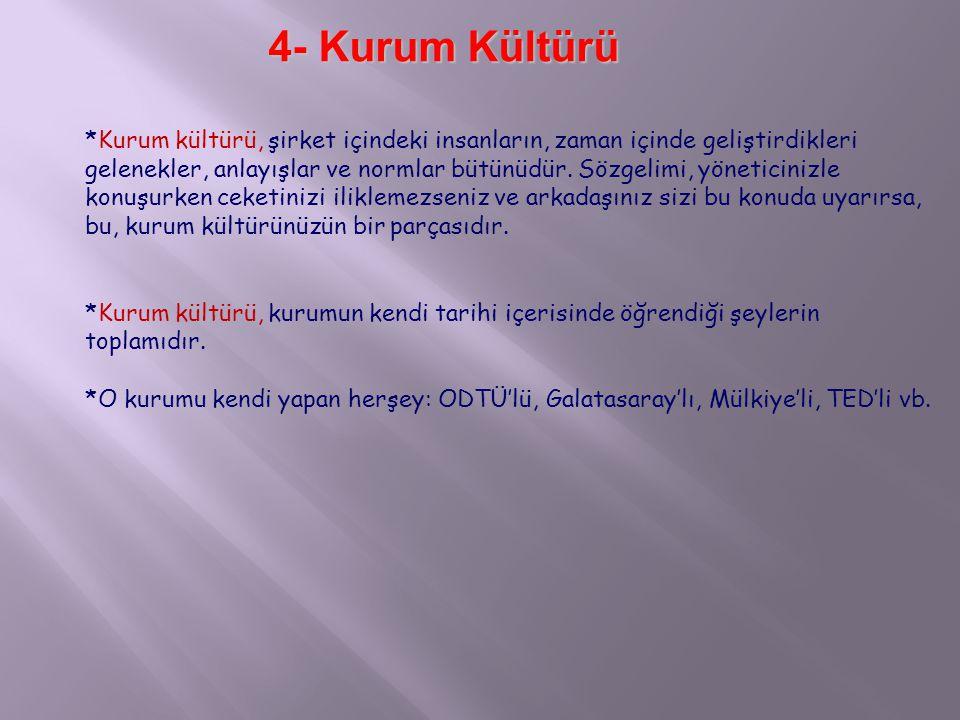 4- Kurum Kültürü