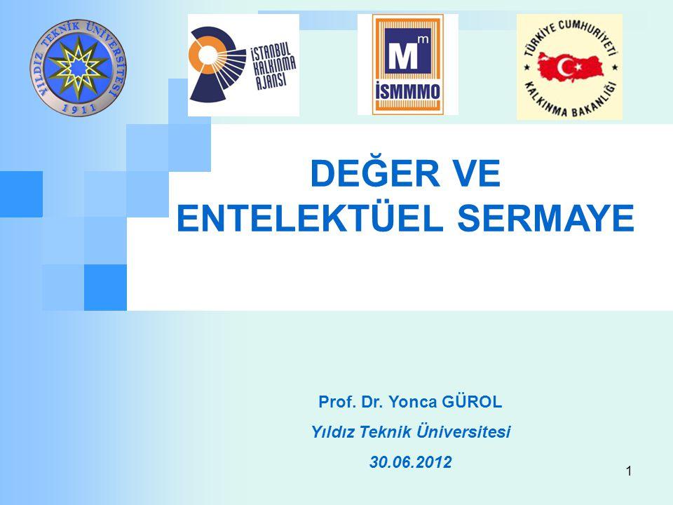 DEĞER VE ENTELEKTÜEL SERMAYE Yıldız Teknik Üniversitesi